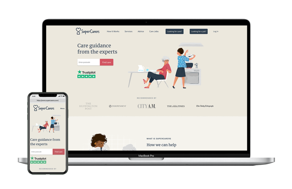 SuperCarers on Desktop and Mobile